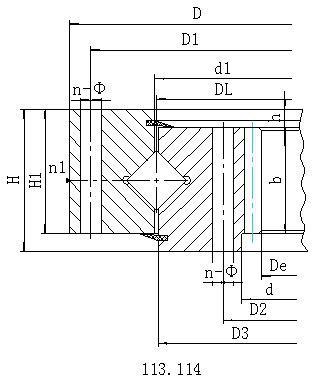 单排交叉滚柱式内齿型回转支承