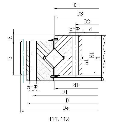 单排交叉滚柱式外齿型回转支承