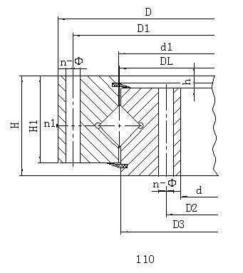 江苏单排交叉滚柱式外齿型回转支承无齿式回转支承