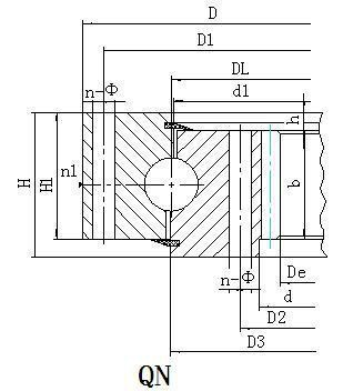 Q系列内齿型转盘轴承