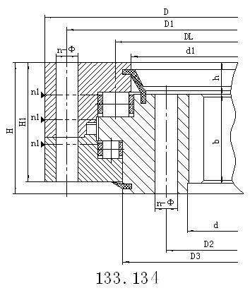 三排滚柱式内齿型转盘支承